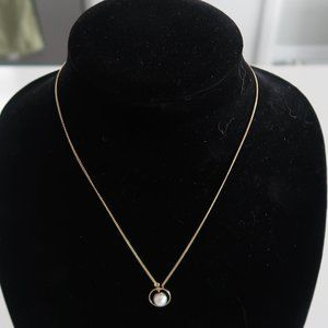 Carocoal Fashion Necklace Gold chain with Pearl